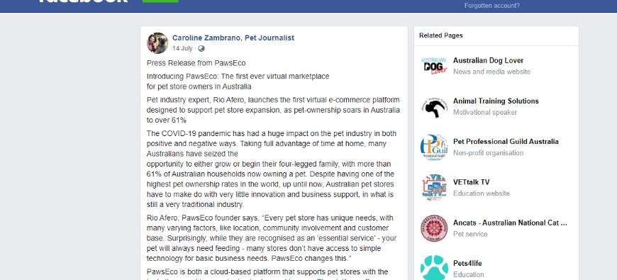@Petjourno founder, Caroline Zambrano