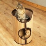 Rosewood Bamboo Cat Tower