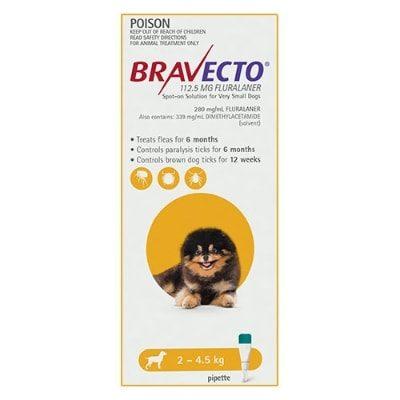 Bravecto Dog Spot On 2-4.5Kg 1Pk
