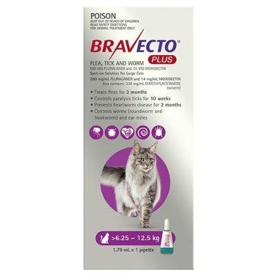 Bravecto Plus Cat 6.25-12.5Kg 1Pk