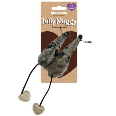 Jolly Moggy Silvervine Mice 2Pk