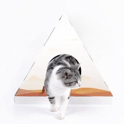 Petkit®Cat Scratcher House(Pyramid)- Orange