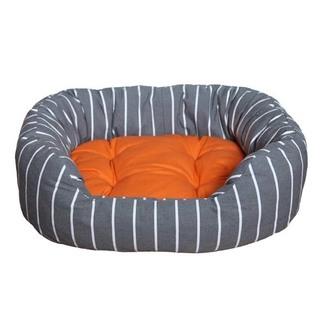 Rosewood Grey Stripe/Tangerine Oval