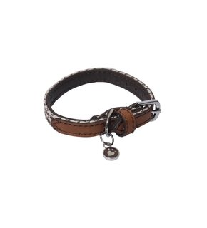 Rosewood Toy Dog Brown/Cream Dogtooth Collar