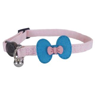 Rosewood Pink & Teal Bow Cat Collar