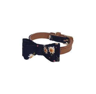 Rosewood Toy Dog Navy Floral Collar