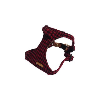 Rosewood Toy Dog Red /Blk Dogtooth Harness