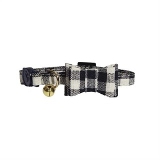 Rosewood Blue Gingham Bow-Tie Cat Collar