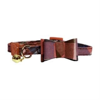 Rosewood Pink Tartan Bow-Tie Cat Collar