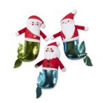 Fringe Studio Christmas Minis Mer-Santas 3-Piece Plush Dog Toy Set