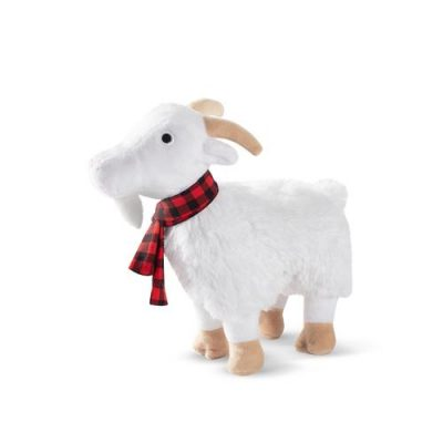 Fringe Studio Goat With Scarf Plush Dog Toy