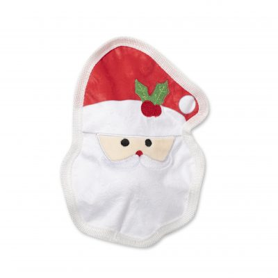 Fringe Studio Christmas Santa Face Durable Plush Stuffing Free Dog Toy