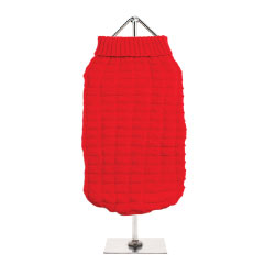 Urban Pup's Red Waffle Textured Knitted Sweater