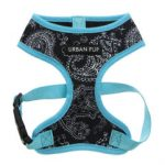 Urban Pup – Black & Blue Paisley Harness