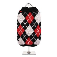 Urban Pup's Red & Black Argyle Sweater